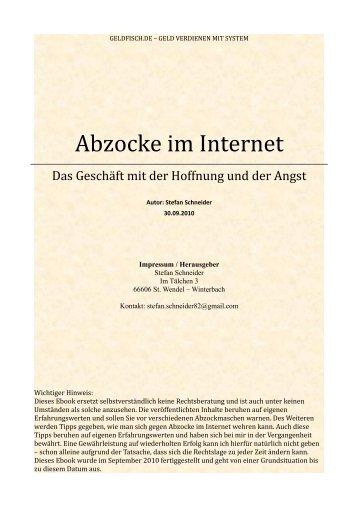 Abzocke im Internet – Das Geschäft mit der Hoffnung ... - Matox.net