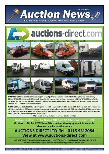 Auction News Apr 16 12 - Auction News Services