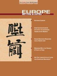 EUROPE - MultiLingual Computing, Inc.