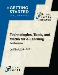 Technologies, Tools, and Media for e-Learning - CEdMA