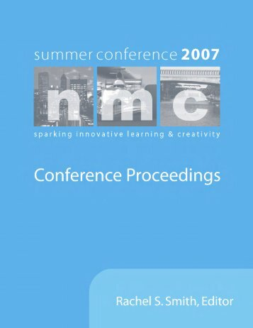 Download the 2007 NMC Summer Conference Proceedings