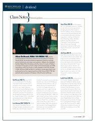 ClassNotes alumni updates - Stephen M. Ross School of Business ...