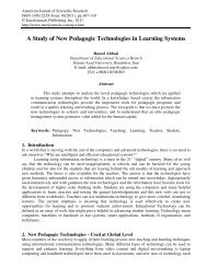 A Study of New Pedagogic Technologies in Learning ... - EuroJournals