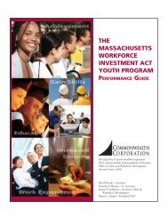 The MassachuseTTs Workforce invesTMenT acT YouTh PrograM