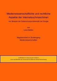 Open-Access Braunschweig - OPUS - Hochschule für Bildende ...