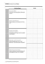 Kopiervorlage Inhalte - Stiftung Bildung und Entwicklung