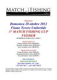 Domenica 28 ottobre 2012 - Match Fishing Italia