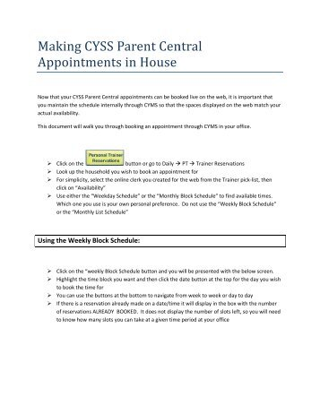 Webtrac - Daily Processing of Appointments ... - JBLM Youth