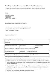 Bewerbungs- bzw. Vorschlagsformular zur Aufnahme in die ...