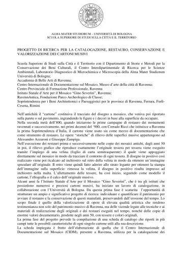 PROGETTO DI RICERCA PER LA CATALOGAZIONE ... - web matic