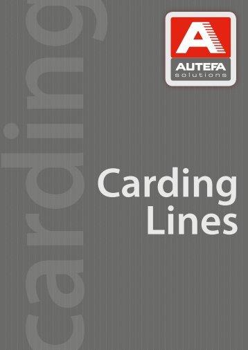 Carding lines - Autefa Automation GmbH
