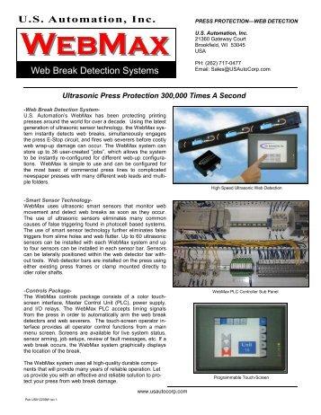 WebMax Brochure Rev 1.pub - US Automation