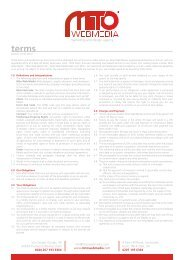 Terms and Conditions - Mito Web Media