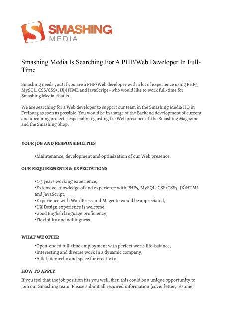 Web Developer Cover Letter from img.yumpu.com