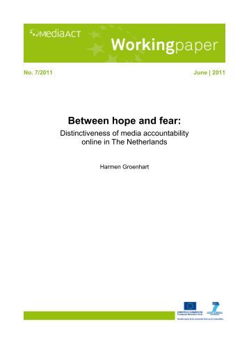 media accountability The relationship between media and good governance is the 2005 theme for the  associations dedicated to media accountability such as.