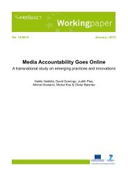 Media accountability goes online - A transnational study of - MediaAcT