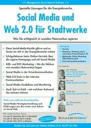 Seminar: Social Media und Web 2.0 für Stadtwerke - Management ...