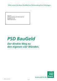 PSD BauGeld Antrag - PSD Bank Karlsruhe-Neustadt eG