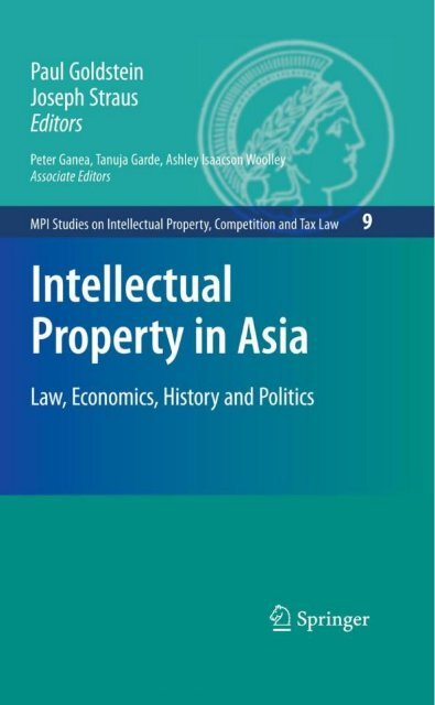 MPI Studies on Intellectual Property,Competition