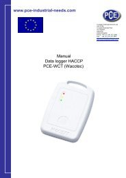 www.pce-industrial-needs.com Manual Data logger HACCP PCE ...