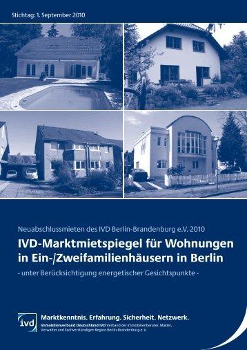 IVD-Marktmietspiegel 2010 EFH-ZFH - IVD Berlin Brandenburg