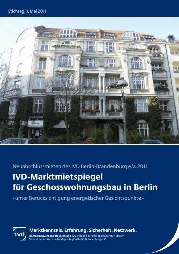IVD-Marktmietspiegel 2011 - IVD Berlin Brandenburg
