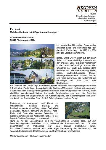Mehrfamilienhaus Plettenberg weitere Infos - Köppen Immobilien