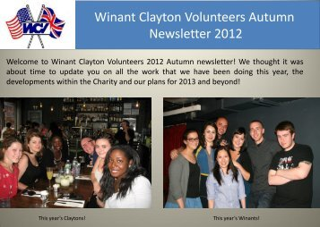 Autumn 2012 Newsletter - Winant Clayton Volunteering