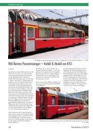 RhB Bernina Panoramawagen – Vorbild & Modell von KISS