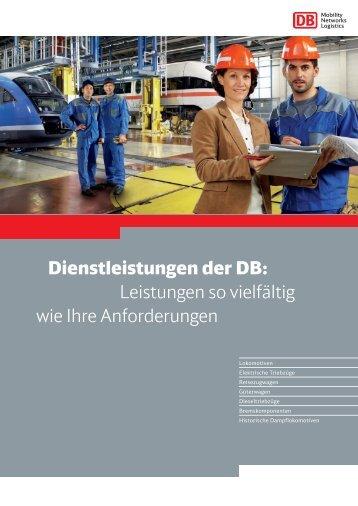 Dienstleistungen der DB - Deutsche Bahn AG