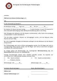 1 Vertrag über die Vermietung des Toilettenwagens zwischen ...