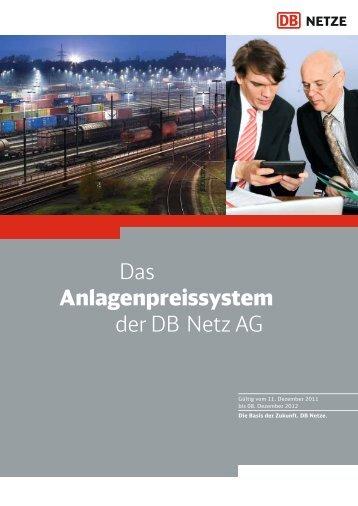 Das Anlagenpreissystem der DB Netz AG