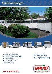 Sanitäranhänger - GAMO Fahrzeugwerke GmbH
