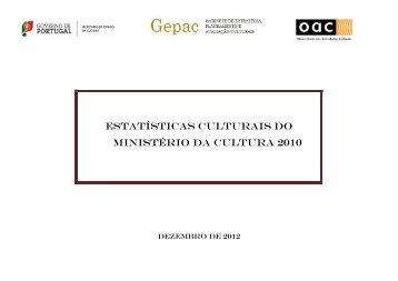 Estatísticas Culturais do Ministério da Cultura 2010