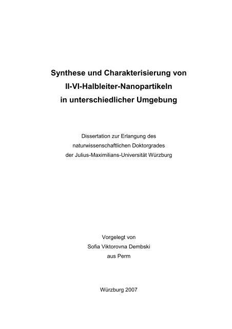 Dokument 1.pdf (10.328 KB) - OPUS - Universität Würzburg