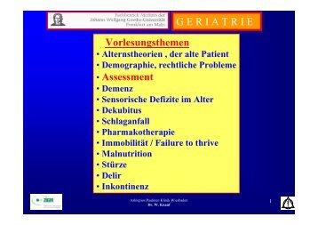 GERIATRISCHES Assessment (ABSTRACT - SciVal