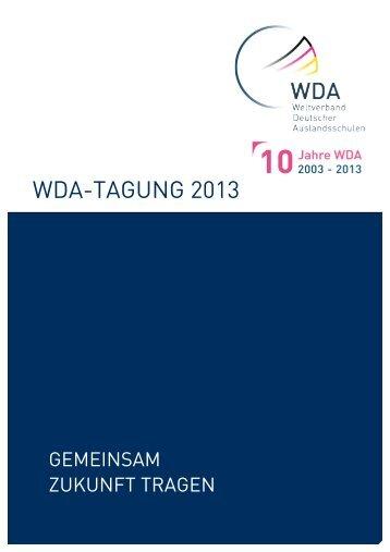 Programm der WDA-Tagung 2013 - Weltverband Deutscher ...