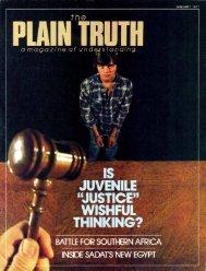Plain Truth 1977 (Prelim No 01) Jan - Herbert W. Armstrong