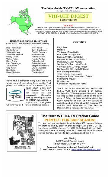 VHF-UHF DIGEST - WTFDA.org