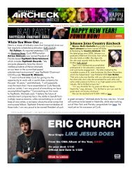 Issue 326 - January 3, 2013 - Country Aircheck