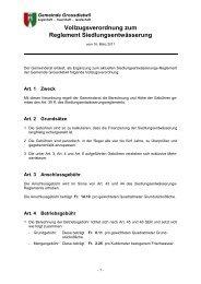 Vollzugsverordnung zum Reglement ... - Gemeinde Grossdietwil