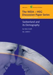 The WDA – HSG Discussion Paper Series on Demographic Issues