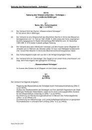 """Satzung des Wasserverbands """"Schwippe"""" 00/16 00/16 Satzung des ..."""