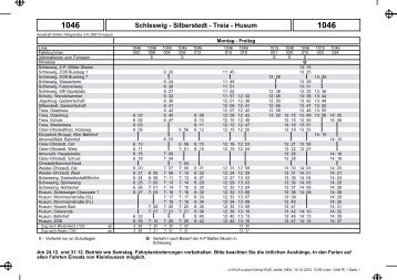 1046 Schleswig - Silberstedt - Treia - Husum - Bahn.de