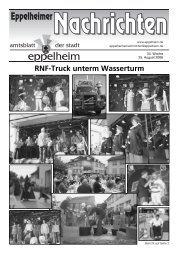 RNF-Truck unterm Wasserturm - Eppelheim