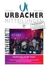 Mitteilungsblatt vom 14.02.2013 - Gemeinde Urbach