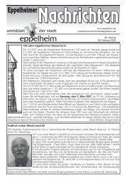 100 Jahre Eppelheimer Wasserturm Stadtrat Lothar Wesch wird 65
