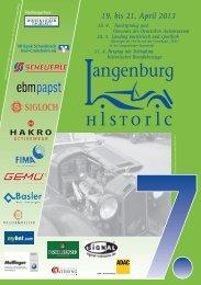 Ausschreibung - Langenburg Historic