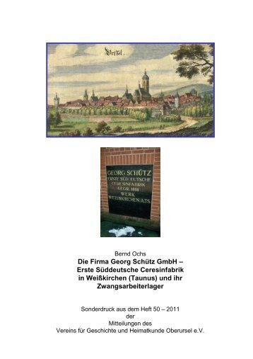 Die Firma Georg Schütz GmbH - Verein für Geschichte und ...