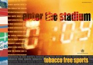 tobacco free sports - Tushita Graphic Vision